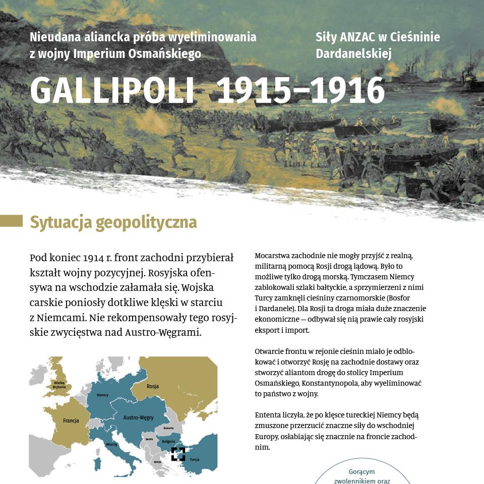 Informacje o Gallipoli 1915-1916 w formacie pdf. Otwiera się w nowej zakładce